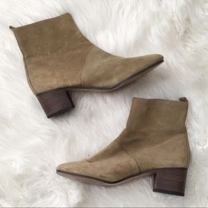 Banana Republic Taupe Suede Booties